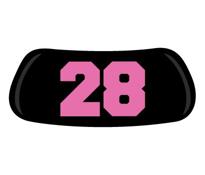 Pink #28 Original EyeBlack - 21-30 - Numbers