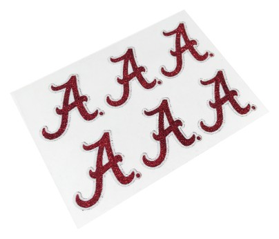 Alabama Crimson Tide Glitter Face Decals