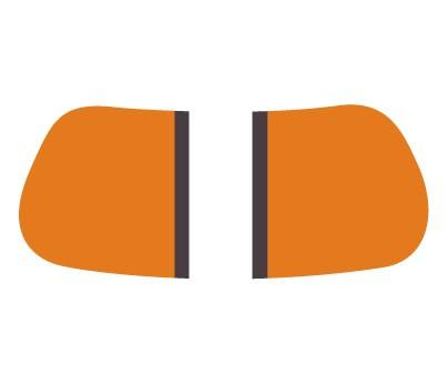 Orange &Brown Gridiron EyeBlack