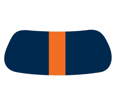 Navy & Orange Gridiron EyeBlack