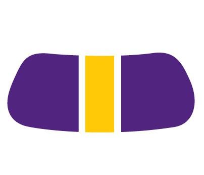 Purple & Gold Gridiron EyeBlack