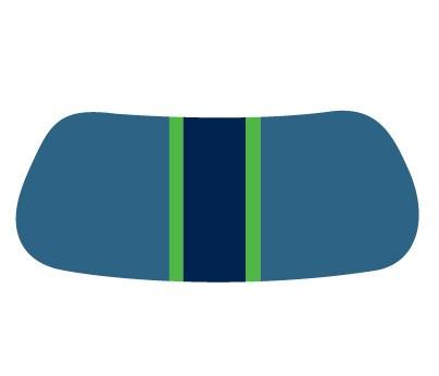 Blue & Green Gridiron EyeBlack