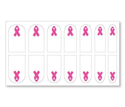 Pink Ribbon Nail Decals