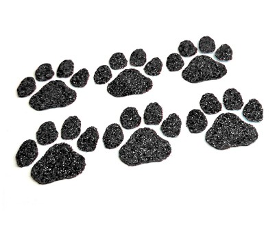 Black Paw Glitter Face Decals