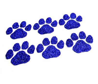 Blue Paw Glitter Face Decals