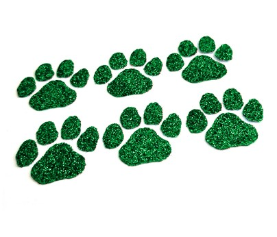 Green Paw Glitter Face Decals