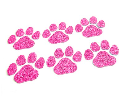 Pink Paw Glitter Face Decals