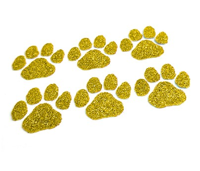 Yellow Paw Glitter Face Decals