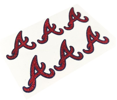 Atlanta Braves Glitter Face Decals