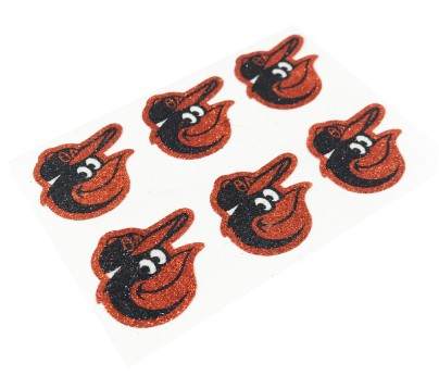 Baltimore Orioles Glitter Face Decals