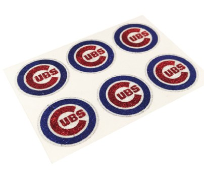 Chicago Cubs Glitter Face Decals