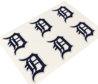 Detroit Tigers Glitter Face Decals
