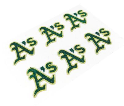 Oakland Athletics Glitter Face Decals