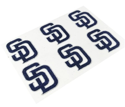 San Diego Padres Glitter Face Decals