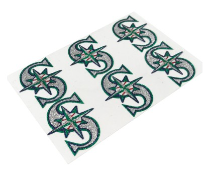 Seattle Mariners Glitter Face Decals