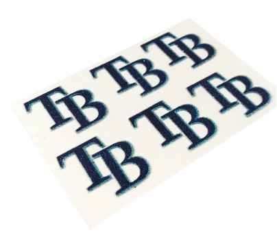 Tampa Bay Rays Glitter Face Decals
