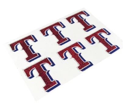Texas Rangers Glitter Face Decals
