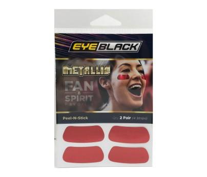 Red Metallic Eye Black