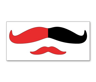 Red and Black Mustache