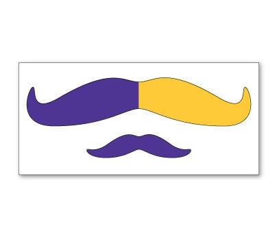 Purple and Yellow Mustache