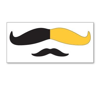 Black and Yellow Mustache