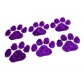 Purple Paw Glitter Face Decals