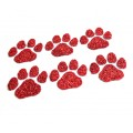 Red Paw Glitter Face Decals