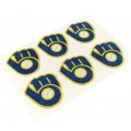 Milwaukee Brewers Glitter Face Decals